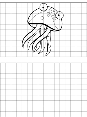 Spotted Jellyfish Drawing coloring page