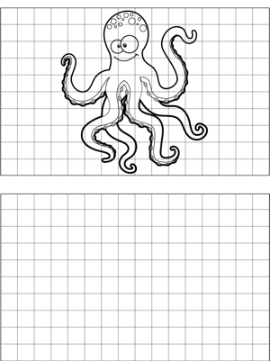 Spotted Octopus Drawing coloring page
