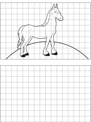 Stallion Drawing coloring page