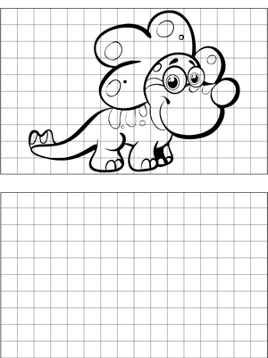 Striped Dinosaur Drawing coloring page