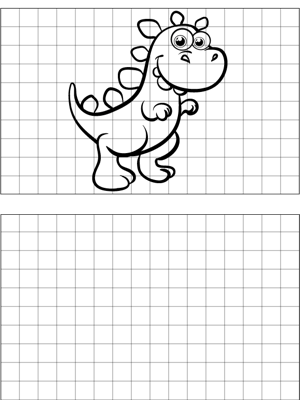 T-Rex Drawing coloring page