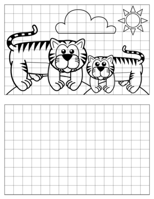 Tiger-Drawing-2 coloring page