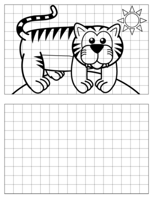 Tiger-Drawing coloring page