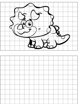 Triceratops Drawing coloring page