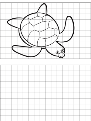 Turtle Drawing coloring page
