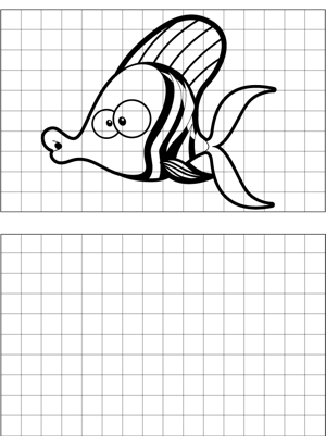 Zebra Fish Drawing coloring page