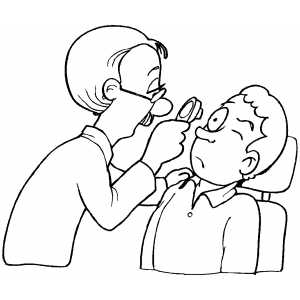 doctor examining patient eye coloring page - Eye Coloring Page