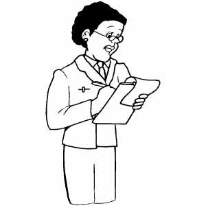 Doctor Making Notes coloring page