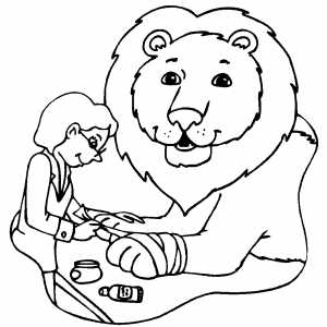 At Veterinarian Coloring Page