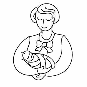 Mother And Infant coloring page