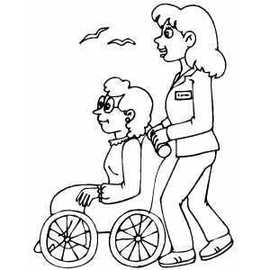 Nurse And Patient coloring page