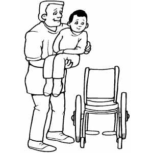 Orderly And Patient coloring page