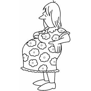 Standing Pregnant Woman coloring page
