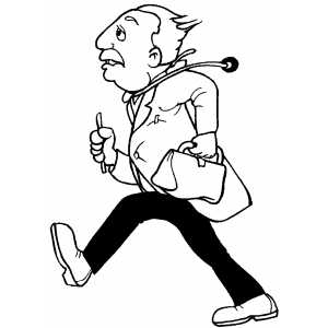 Walking Doctor coloring page