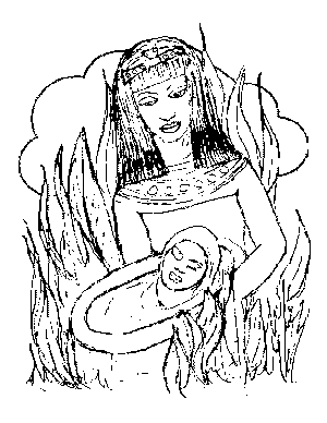 Moses in the Rushes coloring page