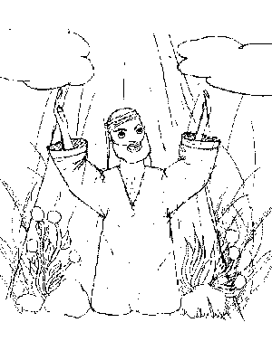 Paul Road to Damascus coloring page