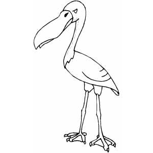 Angry Stork coloring page