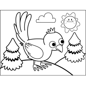 Anxious Bird coloring page