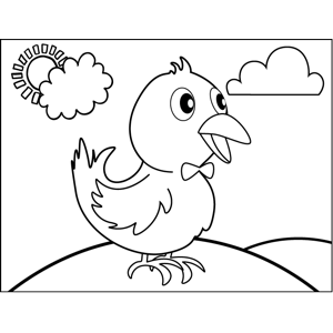bird in bowtie coloring page free printable coloring pages