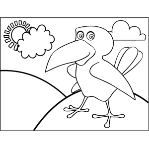 Bird with Big Beak coloring page
