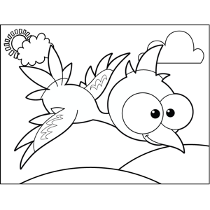 Bird with Mohawk coloring page