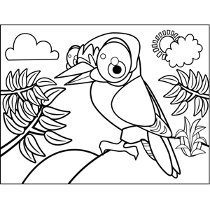 Bird with Talons coloring page