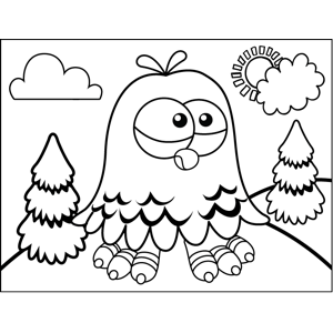 Cute Parakeet coloring page