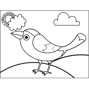 Cute Swallow coloring page
