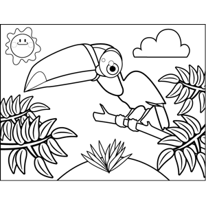 Cute Toucan coloring page