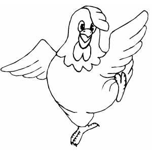 Dancing Chicken coloring page