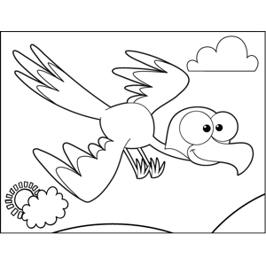 Diving Bird coloring page