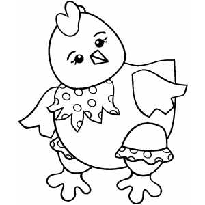 Dressed Chicken coloring page