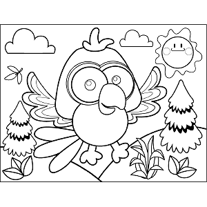 Flapping Bird coloring page