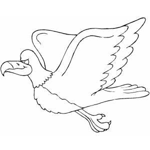 Flying Eagle coloring page
