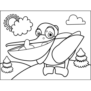 Happy Pelican coloring page