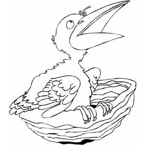 Hungry Chick coloring page
