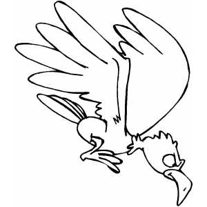 Hunting Eagle coloring page