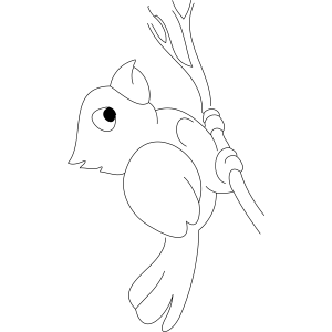 Lonely Bird coloring page