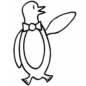Penguin Waves To You coloring page