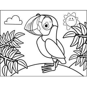 Proud Puffin coloring page