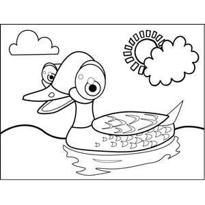 Quacking Duck coloring page