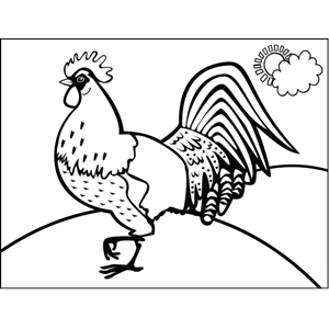 Regal Rooster coloring page