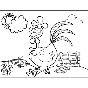 Rooster Googly Eyes coloring page