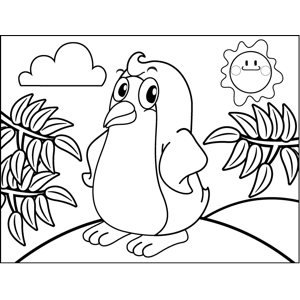Sassy Penguin coloring page