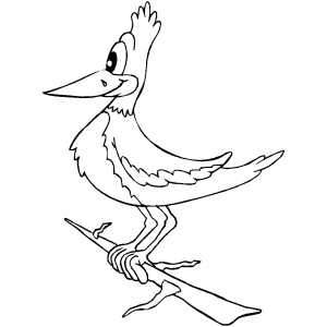 Smiling Woodpecker coloring page
