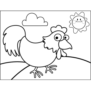 Sneaky Chicken coloring page
