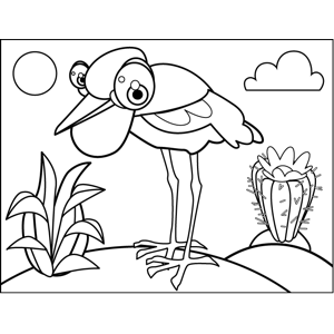 Spindly Bird coloring page