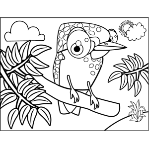 Spotted Bird coloring page