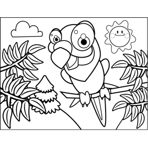 Squawking Parrot coloring page