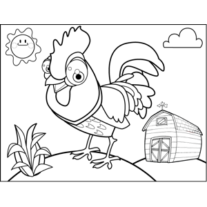 Strutting Rooster coloring page